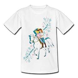 Bibi Und Tina Auf Die Pferde Fertig Los Kinder T-Shirt, 98/104 (3-4 Jahre), Weiß