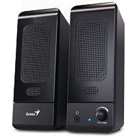 Genius SP-U120 3W Negro Altavoz - Altavoces (De 1 vía, Alámbrico, USB/3,5mm, 3 W, 160-20000 Hz, Negro)