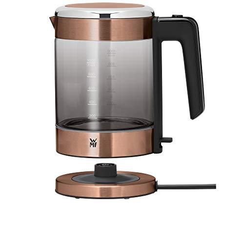 WMF KÜCHENminis Glas-Wasserkocher (1900 Watt, 1,0 l, kabellos, Wasserstandanzeige, Kalk-Wasserfilter, Kochstoppautomatik) kupfer -
