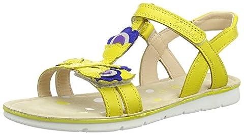 Clarks MimoGracie Jnr, Mädchen Knöchelriemchen Sandalen, Gelb (Yellow Leather), 34