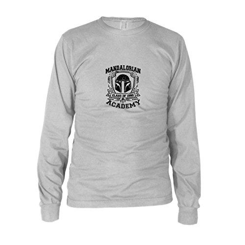 emy - Herren Langarm T-Shirt, Größe: XXL, Farbe: weiß (Star Wars Mandalorian Kostüme)