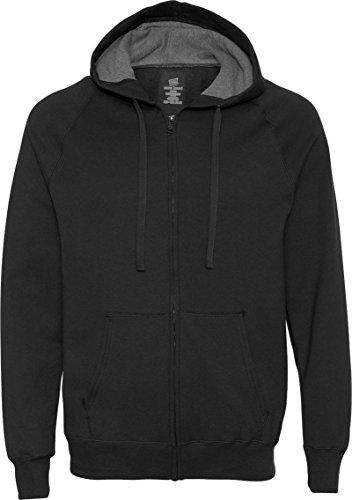 Hanes Men's Nano Premium Lightweight Fleece Hoodie Black