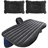 AllExtreme Multifunctional Inflatable Car Bed Mattress with Two Air Pillows, Car Air Pump and Repair Kit (Multi Color)