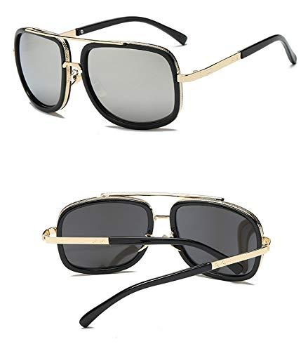 NHQA Sonnenbrillen Big Frame Sunglasses Men Square Brillen für Frauen Sonnenbrillen, Rot