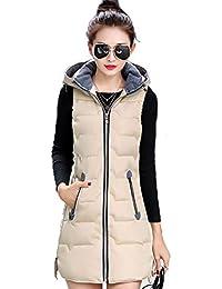ca8e679bcdcd Janlyy Women Gilet Sleeveless Jacket Coat Faux Fur Bodywarmer Gilet Hooded Puffer  Vest Zip Up for