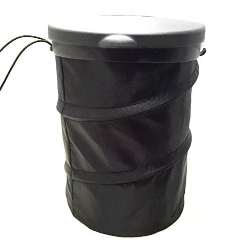 HermosaUKnight Foldable Design Car Auto Garbage Can Trash Can Leakproof Pop-up Trash Bin