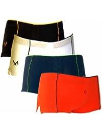 4er Set Lady Sportpants von Remixx. Sport Panties in Baumwollqualität in den Farben schwarz, navy, orange & weiß.