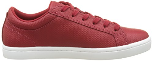 Lacoste Straightset Lace 317 2, Formatori Bassi Donna Rosso (Dk Red)