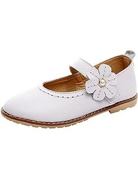 [Patrocinado]rismart Niñas Colegio Formal Princesa Hermosa Flor Cuero Zapatos de Vestir