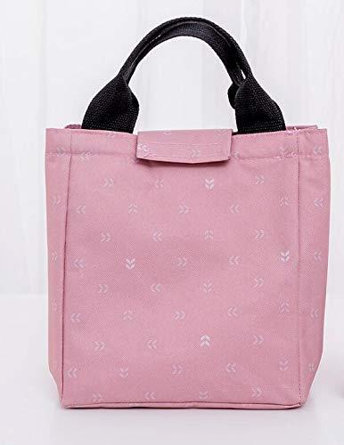 WWUUOOPRT Schule Picknick Tasche Take-out isolierte Oxford Tuch Gefrierschrank Lunch Bag (Pink) (Gefrierschrank Tuch)