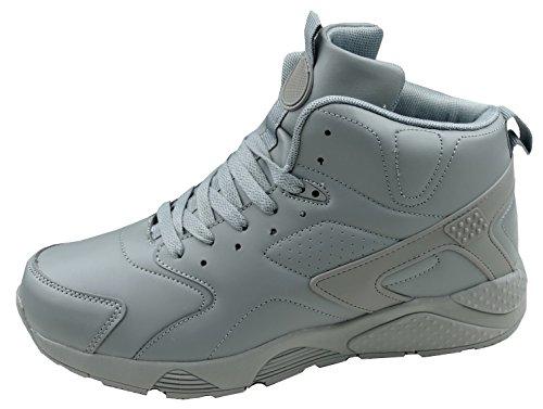 gibra Herren Sneaker Sportschuhe sehr leicht, Art. 2137, knöchelhoch, grau, Gr. 44