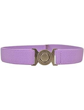 Olata Cintura Elasticizzata per Bambini 1-6 Anni con Fibbia Rotonda
