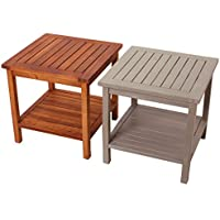 Promafit table en bois Athene - Mobilier de salon - Table jardin salon Acacia - Table basse massif - résistant aux intempéries - Diverses Couleurs au choix (Naturel Brun)