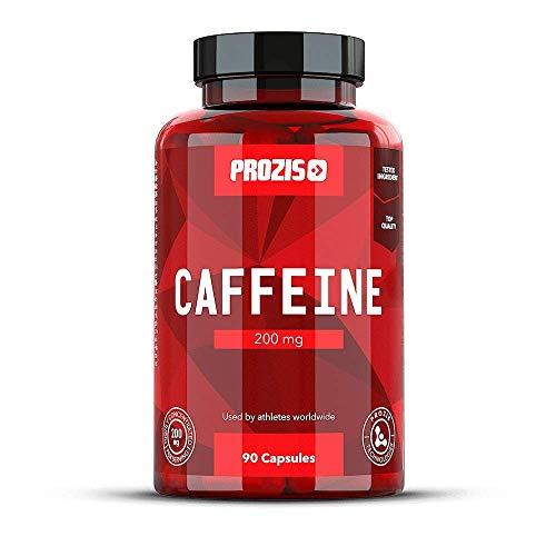 Prozis Koffein 200mg 90 Kapseln - Konzentrationsstärkung , Energieschub und Fettverbrennung - Ohne Zucker und Kalorien - 90 Portionen -