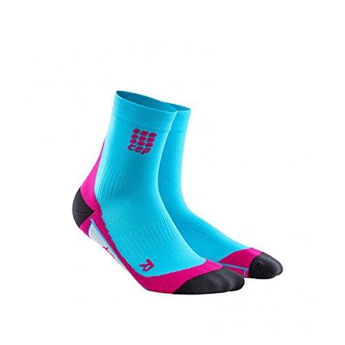 CEP SHORT SOCKS Damensocken Damen Socken Compression Laufsocken Running Sportsocken (blue/pink, III 38-40 cm)