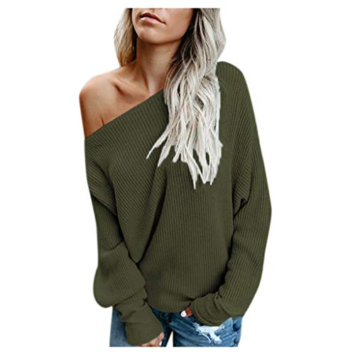 Womens Off Shoulder Pullover Kni...