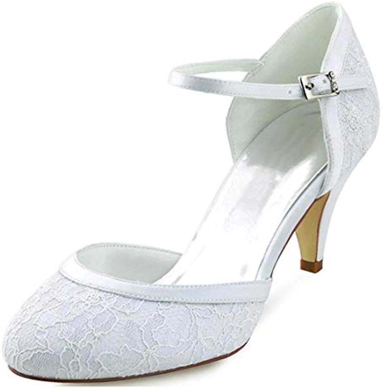 ZHRUI Ladies Ladies Ladies Almond Toe Handmade Retro bianca Lace Scarpe da Sposa da Sposa UK 3 (Coloreee   -, Dimensione   -) | Outlet Online Store  | Uomini/Donne Scarpa  f68851
