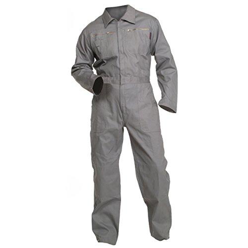 Charlie Barato® Arbeitsoverall grau - waschfester Overall, Robuster Arbeitsanzug für Herren & Damen - Unisex (56)