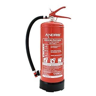 ANDRIS® Feuerlöscher 6kg ABC Pulverlöscher 12 LE mit Manometer EN3