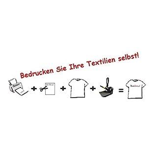 Airbrush-City 20 Stück T-Shirt Folie Transferfolie Plotterfolie A3 helle Textilfolie Stoffe