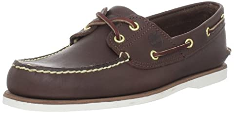 Timberland EK Classic 2 Eye Dark Brown Mens Boat Shoes Size 45.5 EU