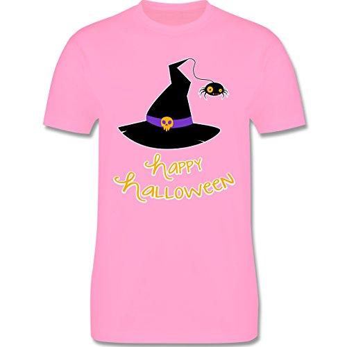 Halloween - Hexenhut Happy Halloween - Herren Premium T-Shirt Rosa