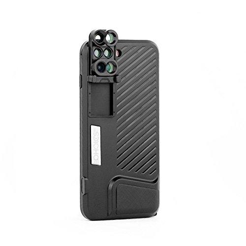 matecam Premium iPhone 7Plus/iPhone 8Plus Kamera Lens Kit Schutzhülle, Switch 6Kit 6Dual-Optik Lens System für iPhone 8Plus/7Plus: Fisheye, Teleobjektiv, Weitwinkel, Makro und Super Makro