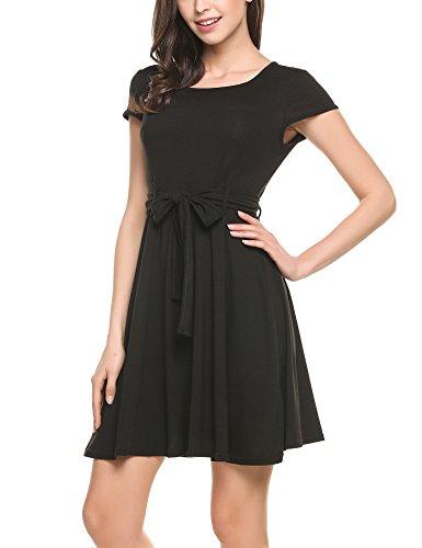 66e5afbed4f8 Zeagoo Elegant Damen Sommerkleid Vintage Blumen Kleid Partykleid ...