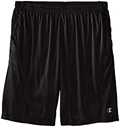 Champion Mens Big-Tall Powertrain Shorts, Black, 3X