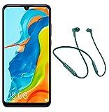 Pack Huawei, P30 Lite Smartphone débloqué 4G Noir + Ecouteurs intra-auriculaires sans fil Freelace Vert (6,15 pouces - 128Go - Double Nano SIM - Android 9)