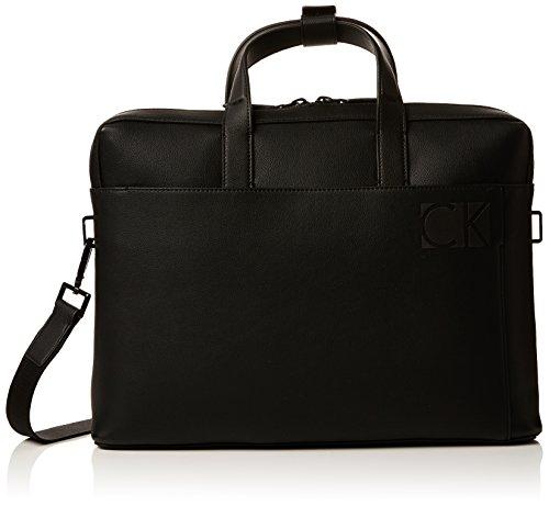 Calvin Klein Hi-profile Slim Laptop Bag, Sacs pour ordinateur portable homme, Noir (Black), 6x28x38 cm (B x H T)