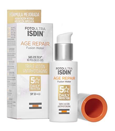 ISDIN FotoUltra Age Repair FW LSF 50 | Tägliche Sonnencreme für das Gesicht | Dreifache Anti-Aging-Wirkung, 50 ml