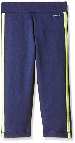 Adidas, Pantaloni sportivi aderenti a 3/4 Bambina Viola/giallo