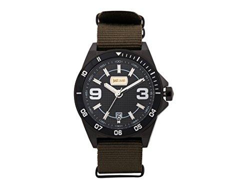 Just Cavalli Men's Analogue Quartz Watch with Textile Strap JC1G014L0045