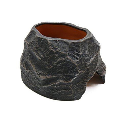 """sourcing map 5,5\"""" x3,1 Keramik Befeuchtung Höhle Terrarium Reptil Ornament für Amphibien"""
