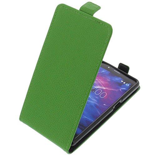 foto-kontor Tasche für MEDION Life S5004 Smartphone Flipstyle Schutz Hülle grün