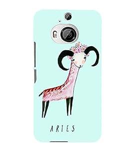 Fiobs Designer Phone Back Case Cover HTC One M9 Plus :: HTC One M9+ :: HTC One M9+ Supreme Camera ( Aries Zodiac Luck )
