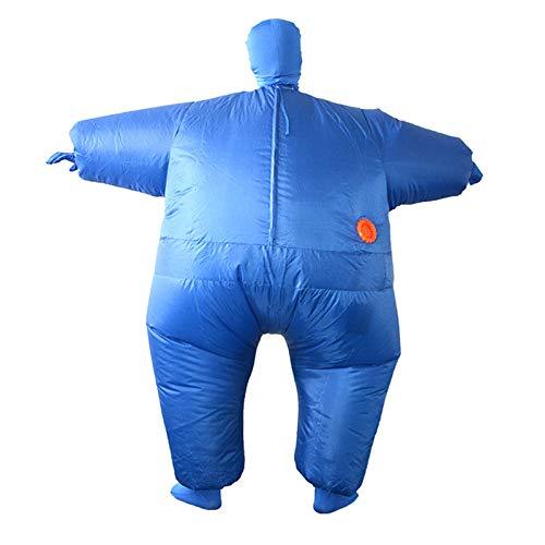 Passt Kostüm Fett - SUREH Aufblasbares Sumo Wrestler Sumo Kostüm Wrestling Fat Suit Kostüm Halloween Party Aufblasen Kostüme Einheitsgröße passt den meisten