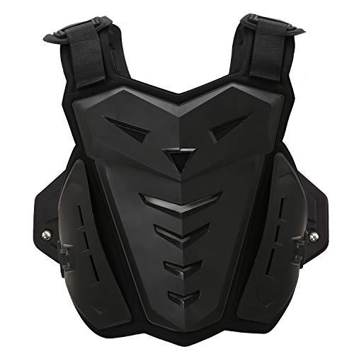 Protettore del Torace Protezione per La Schiena del Torace Back Protector Petto Moto Armatura Vest Body Vest Armor Protettiva per Riding Skating Scooter Sci£šNero£