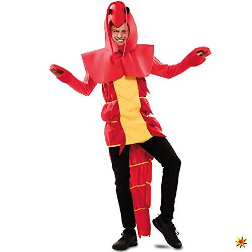 EUROCARNAVALES Herren Kostüm Languste Gusto rot Einheitsgröße Hummer Krebs Karneval - Pizza Lieferung Kostüm