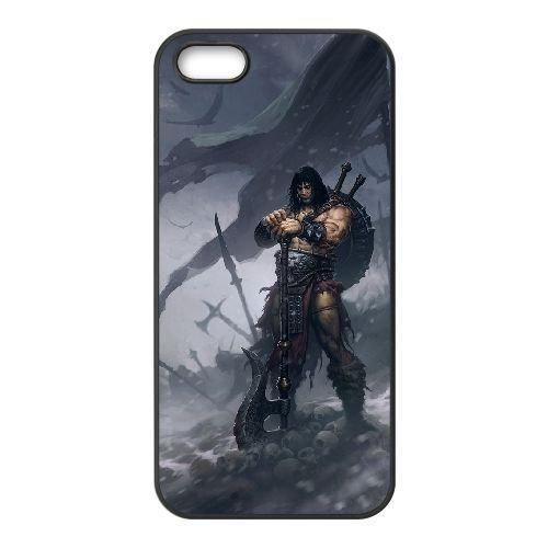 Diablo coque iPhone 5 5S Housse téléphone Noir de couverture de cas coque EBDXJKNBO09149