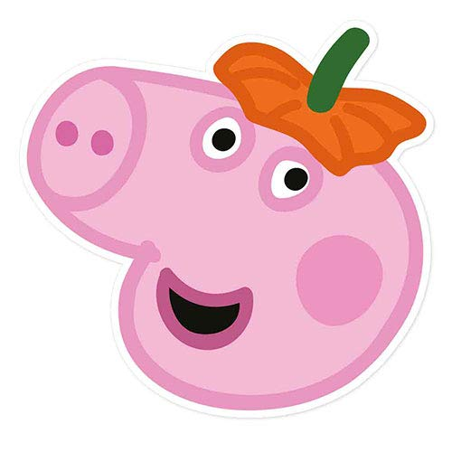 Star Cutouts SM306 Offizielle Fun Papp-Gesichtsmaske George (Halloween Party Peppa Pig) mehrfarbig