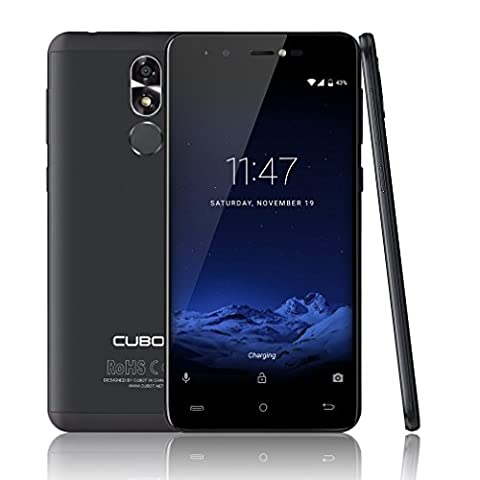 CUBOT R9 5,0 Zoll Smartphone Android 7.0 Dual SIM 3G Handy Ohne Vertrag MT6580 1.3GHz Quad Core 2GB RAM 16GB ROM 5MP+13MP Kameras Ultra dünnes, Abnehmbar 2600mAh, Fingerabdruck (Sim Ohne Vertrag)