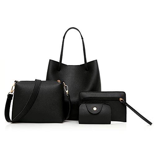 n Leder Handtasche Messenger Bag Card Bag Lychee Muster Schulter tragbare Messenger Bag Geldbörse ()