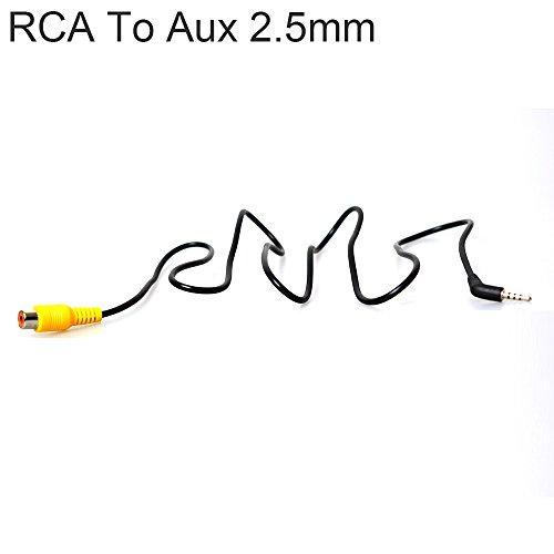 CoCar Adapter Konverter RCA Phono Cinch zu GPS Dashcam DVR 2.5mm Aux Klinke Stecker AV-IN Kamera für Rückfahrkamera Autoparksysteme Tablet Kompatibel mit Tomtom Garmin Rand McNally Etc. (3FT)
