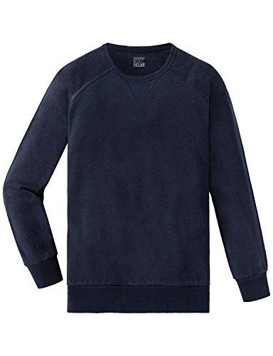 Schiesser Mädchen Schlafanzugoberteil Mix & Relax Shirt 1/1, Blau (Nachtblau 804), 140 (Herstellergröße: XS)