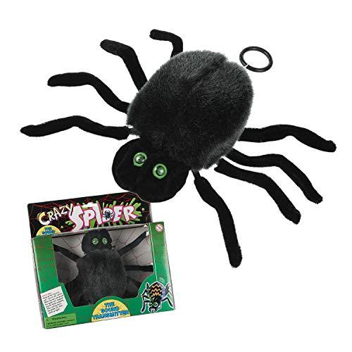 Halloween Spinne am Band mit leuchtenden Augen