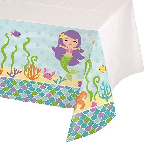 NANA'S PARTY Mermaid Friends Geburtstagsparty-Reihe – unter dem Meer Geschirr und Dekorationen Plastic Tablecover