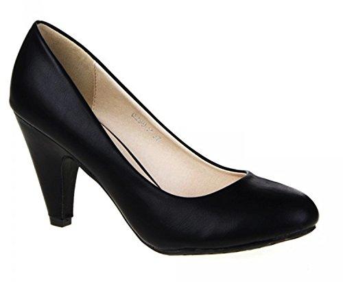 Klassische Damen Pumps Stilettos Abend Schuhe Party Hochzeit 60 Schwarz