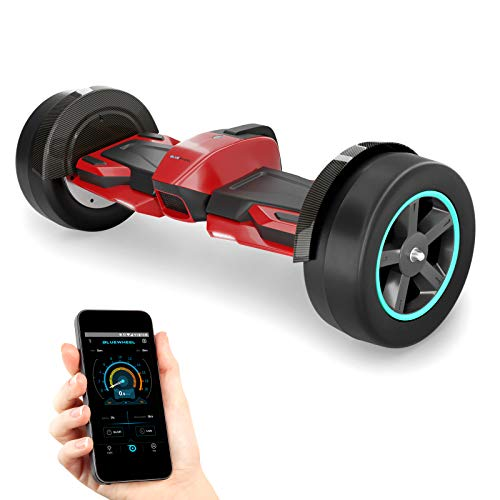 """8.5"""" Premium Hoverboard HX600 mit Slicks und Aluminium Chasis - Deutsche Qualitäts Marke - App Bluetooth Subwoofer - Starker Dual Motor - Offroad Elektro Skateboard Self Balance Scooter"""